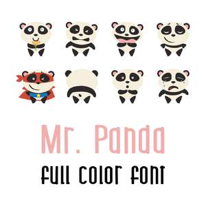 mr. panda full color font