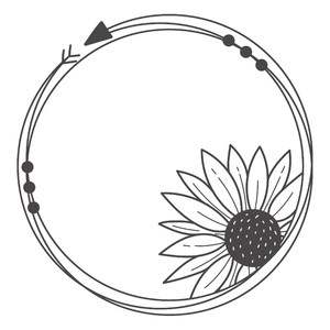 sunflower arrow round circle