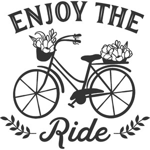 enjoy the ride vintage bicycle