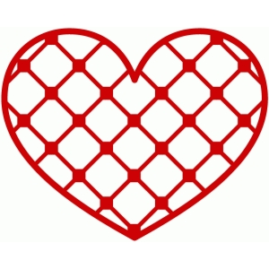 patterned heart