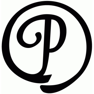 round flourish monogram - p
