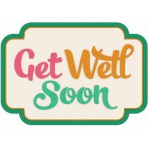 get well soon card label