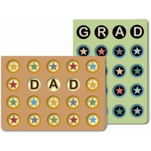 dad and grad cards 5x7