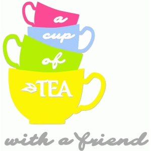 a cup of tea with a friend