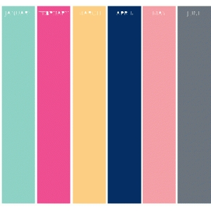 set of 6 monthly binder dividers