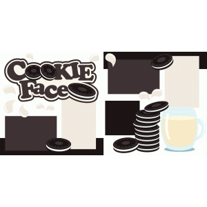cookie face 2 page scrapbook kit