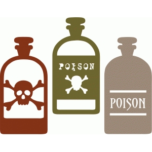 bottles of poison