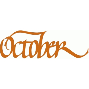 october – italic calligraphy