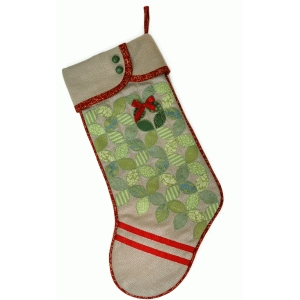 christmas stocking hidden wreath sew & quilt pattern