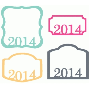 set of 4 2014 labels