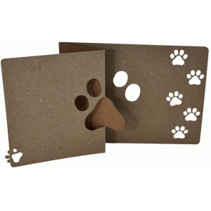 pawprint  flip card