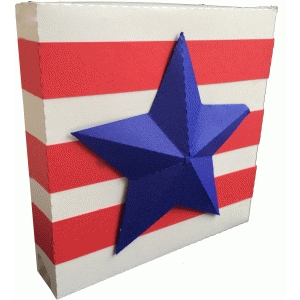 stars and stripes decoration