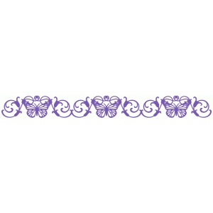 butterfly flourish border