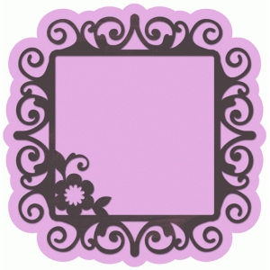 floral ornate layered frame