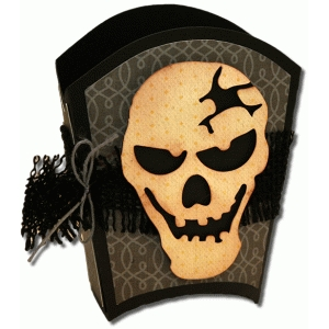 3d skull treat box with mat