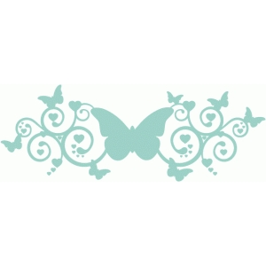 fancy butterfly swirl / flourish