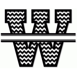 chevron split monogram w