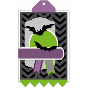 layered halloween tag kit - bats & labels