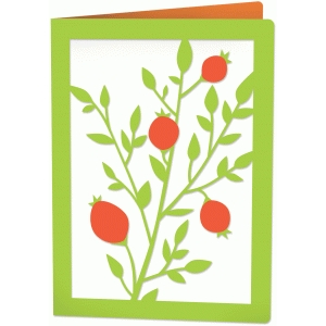 berry branch 5x7 card