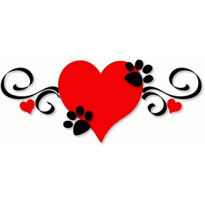 doggy paws on heart