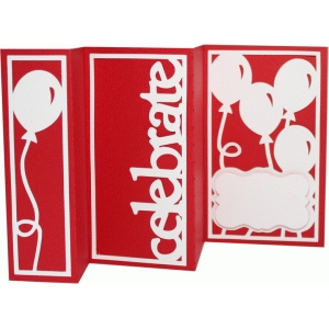 accordion fold card - celebrate