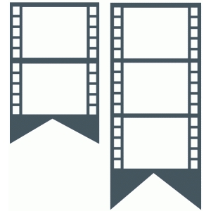 filmstrip banner set
