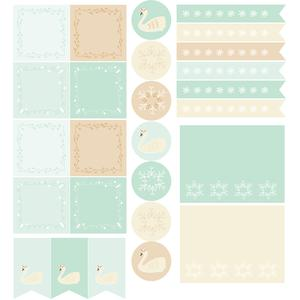 swans & snowflakes planner stickers