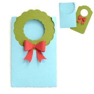 christmas wreath gift card envelope