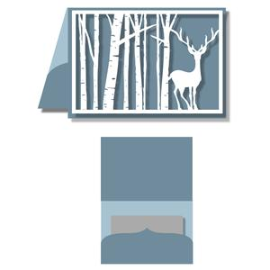 gift card holder - birch tree with deer