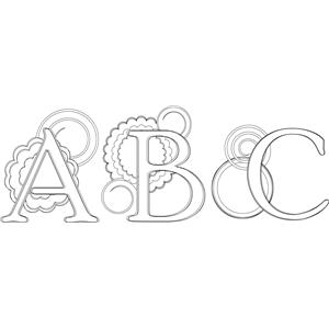 abc monogram sketch