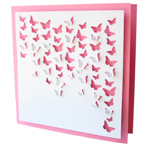 butterfly cluster square card