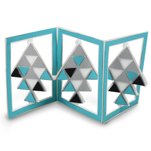 accordian card triangles