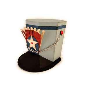 hat 3d box drum major