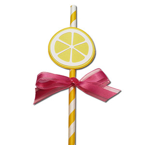 lemon straw slider