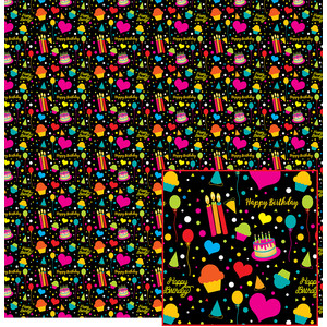 colorful birthday paper