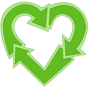 recycle heart symbol