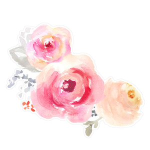 corner watercolor flowers