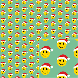 happy face santa pattern