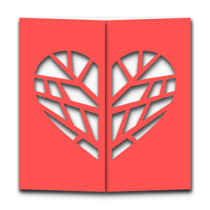 gatefold heart tree