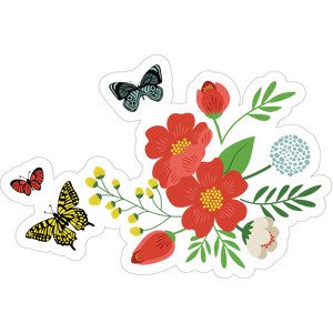 flower and butterfly bundle