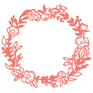 flower and leaf fall wreath