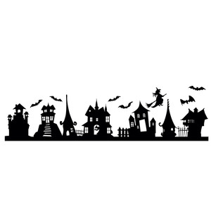 haunted house border