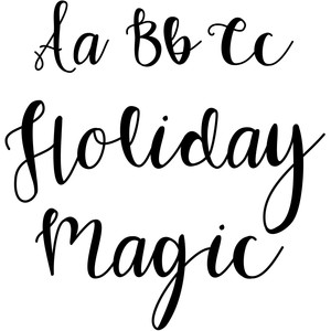 holiday magic script font
