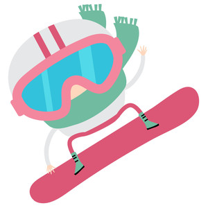 winter cuties - snowboarder