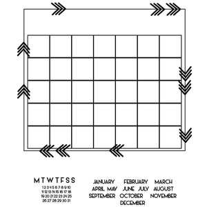 build a calendar arrow grid