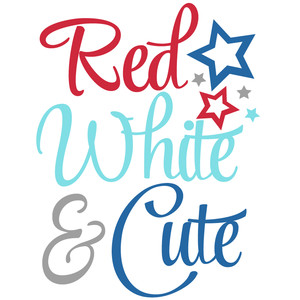 red white & cute