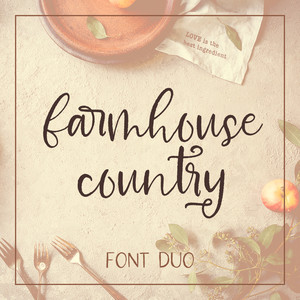 farmhouse country font duo