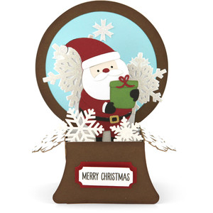 snowglobe box card santa