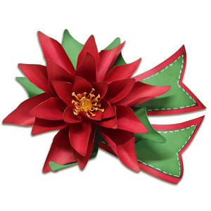 poinsettia gift bow