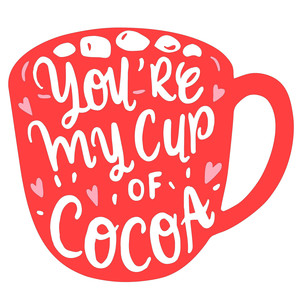 my cup of cocoa valentines mug